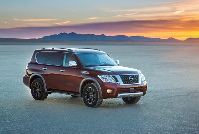 2017 Nissan Armada red