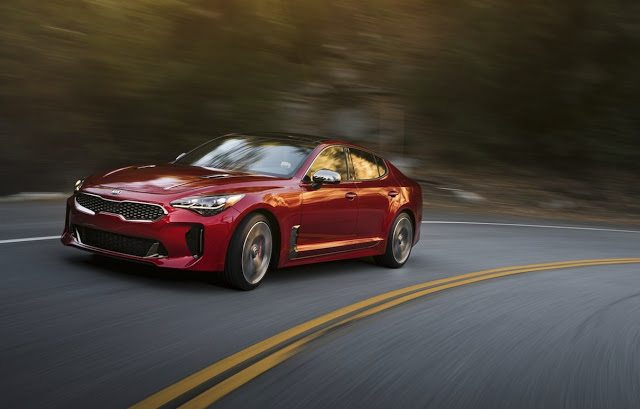 2018 Kia Stinger red
