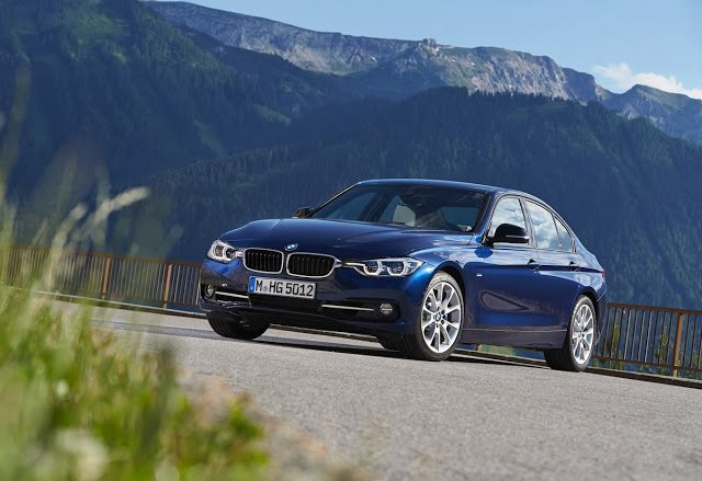 2016 BMW 3-Series sedan blue