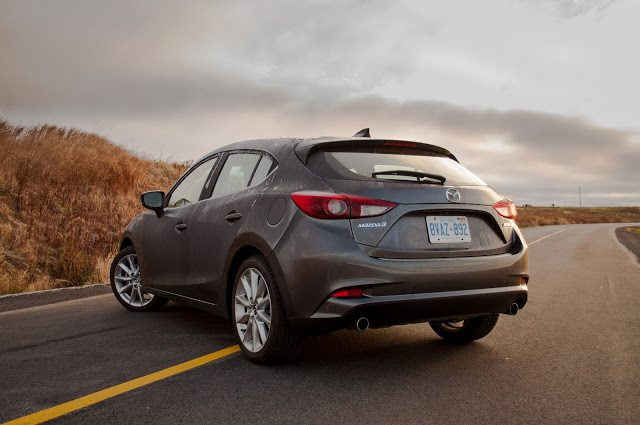 2017 Mazda 3 Sport GT Hatchback Machine Grey rear