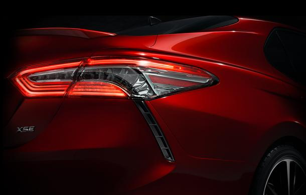 2018 Toyota Camry rear taillight teaser