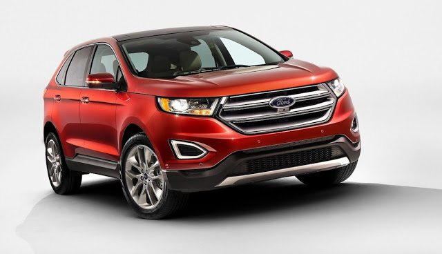2016 Ford Edge red