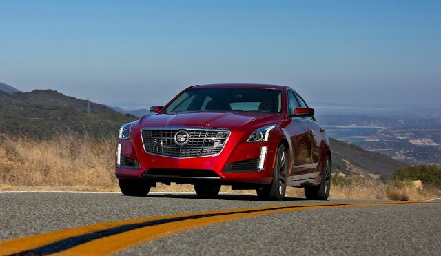2017 Cadillac CTS red