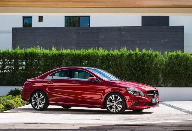 2016 Mercedes-Benz CLA-Class red