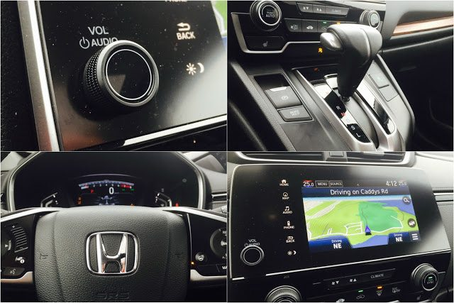 2017 Honda CR-V Touring interior detail