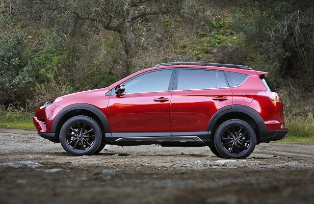 2017 Toyota RAV4 Adventure red