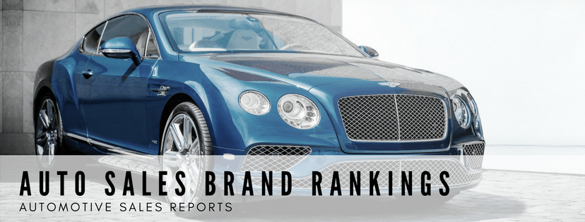 Auto Sales Brand Rankings