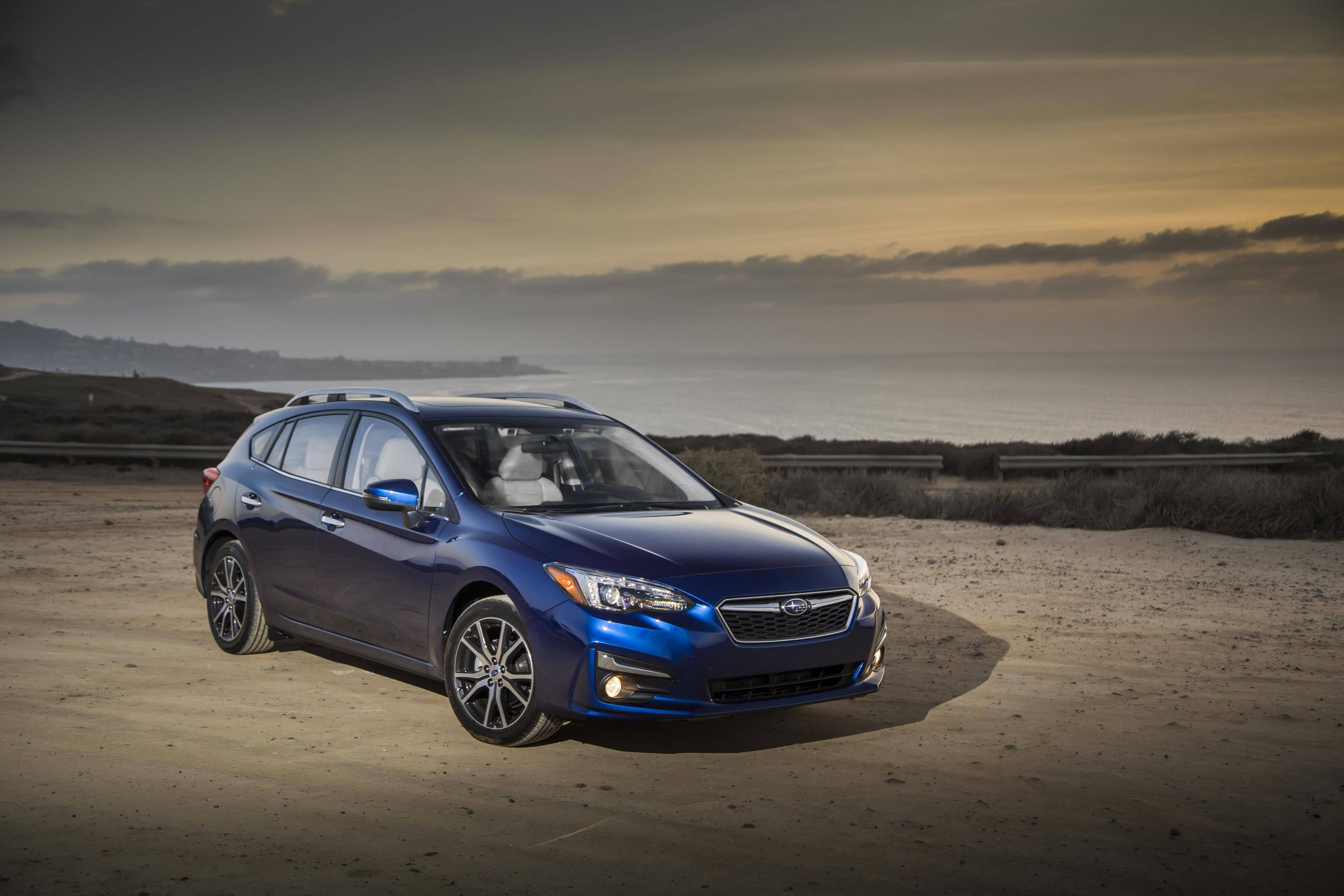 Subaru Impreza, one of Subaru's top selling vehicles in calendar year 2017