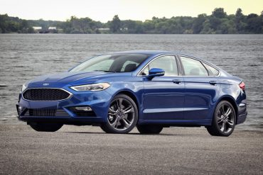 The Ford Fusion, one of Ford's top selling vehicles in the USA in 2017