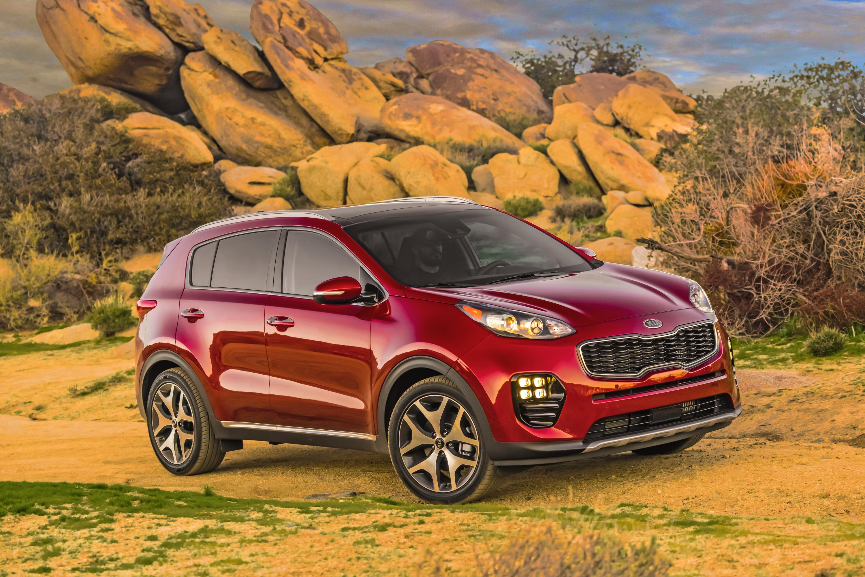 Kia Sportage, one of Kia's top selling vehicles in calendar year 2017