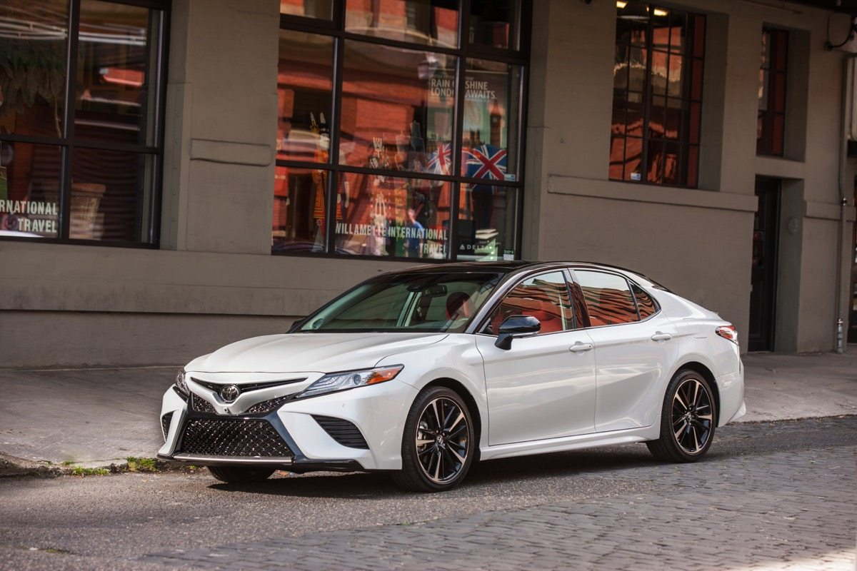 2018 Toyota Camry XSE white copy - Image: Toyota
