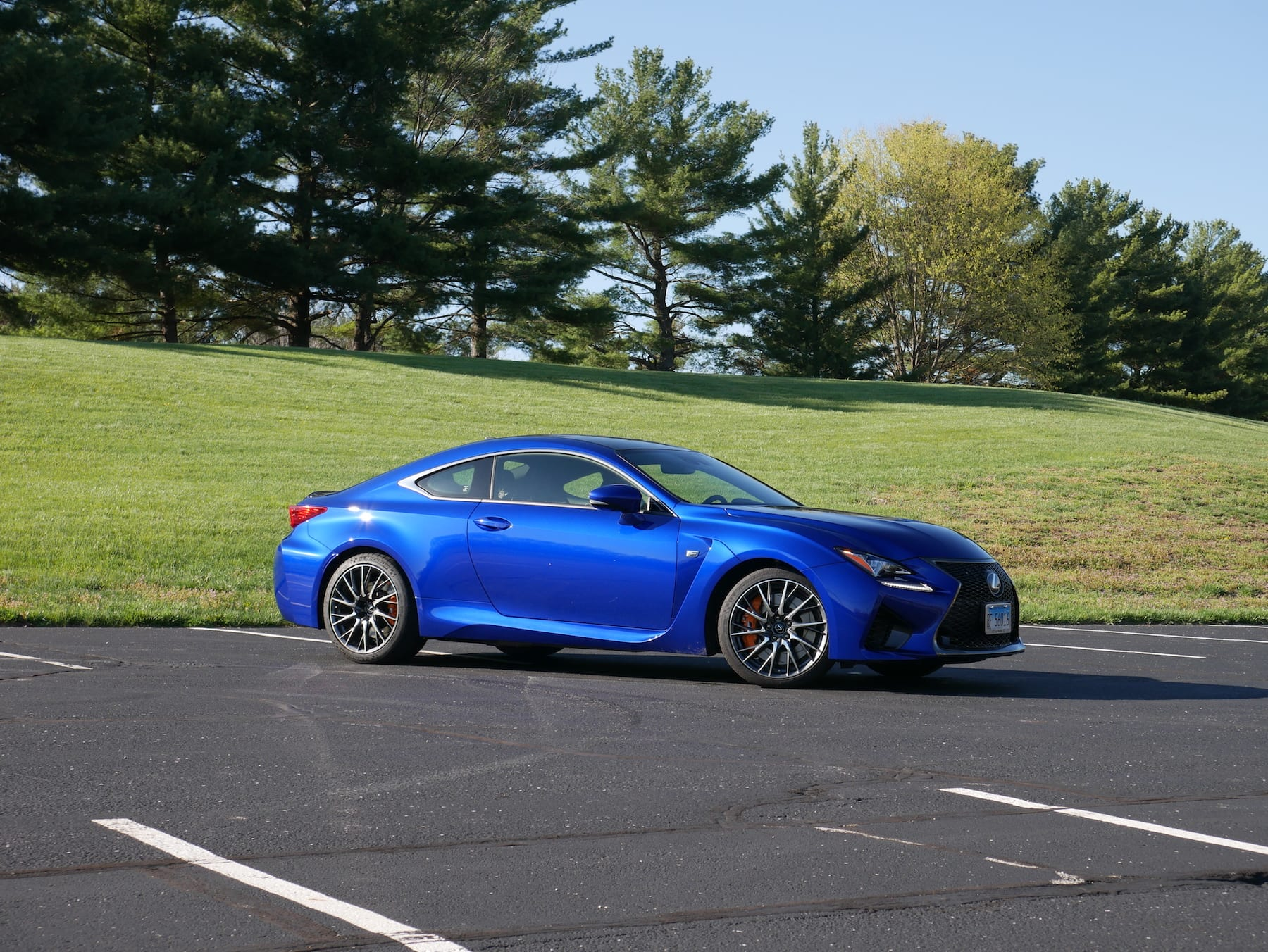 2019 Lexus RC F front three quarter view