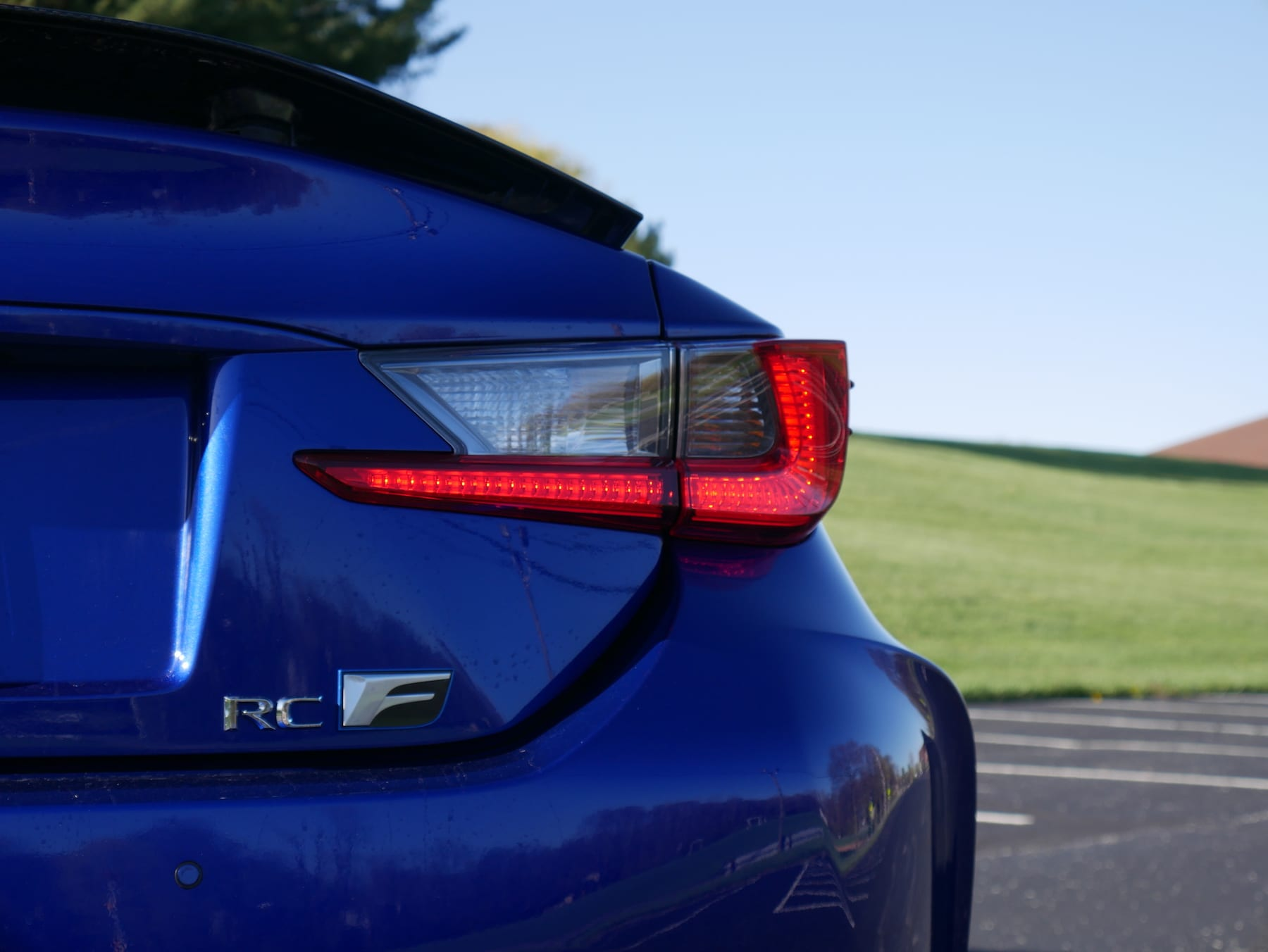 2019 Lexus RC F taillight