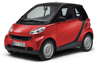 red smart fortwo