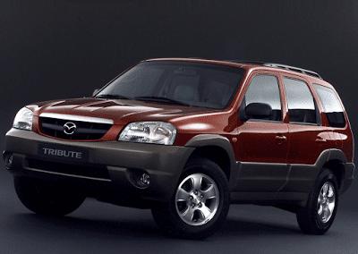 2004 Mazda Tribute red