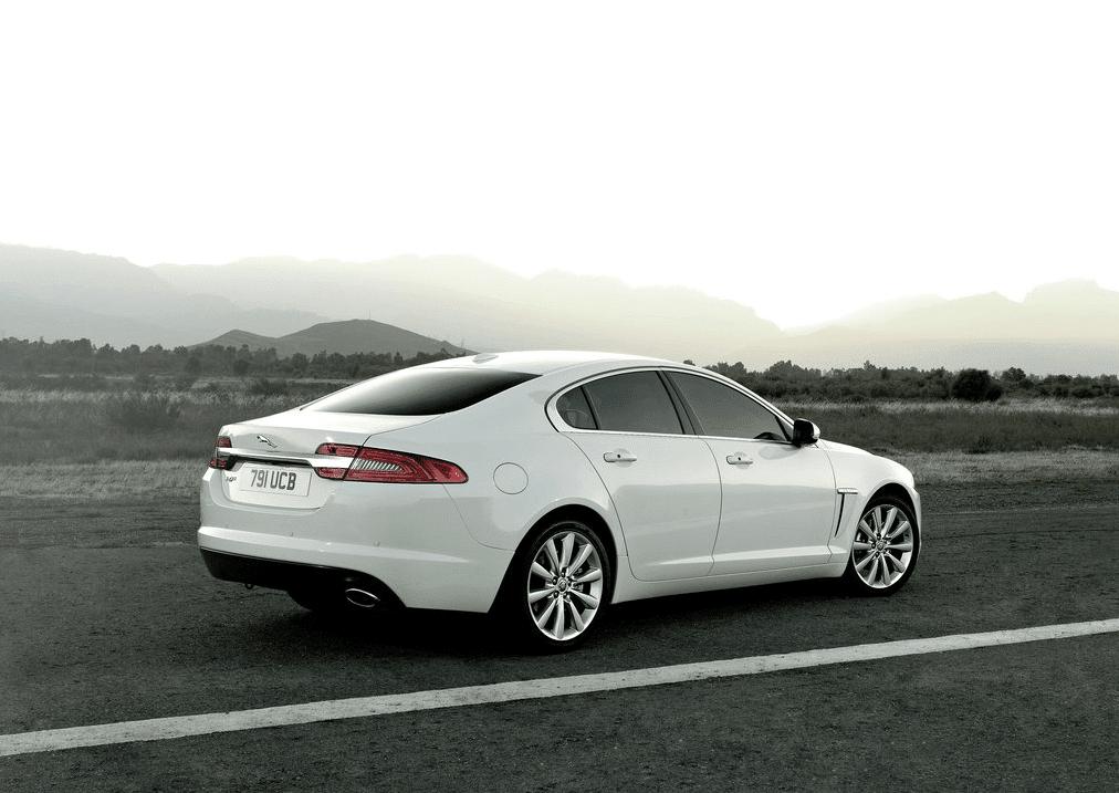 Jaguar XF white