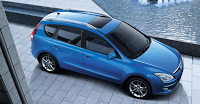 blue Hyundai station wagon