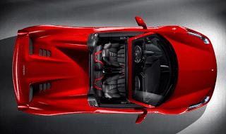 2012 Ferrari 458 Spider From Above
