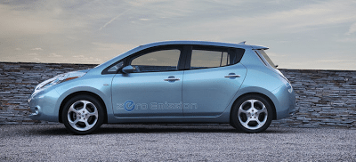 2011 Nissan LEAF Blue profile