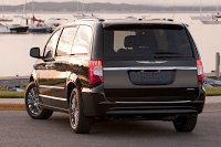 2011 Chrysler Town & Country Black Rear