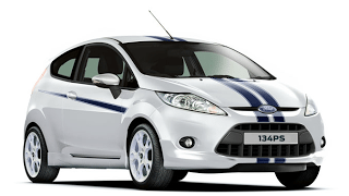 2011 Ford Fiesta S1600 134 PS White Blue Stripes