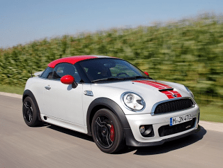 2012 Mini Coupe White Red Stripes
