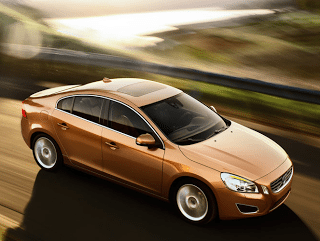 2011 Volvo S60 aerial view