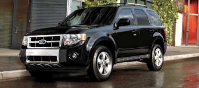 2012 Ford Escape Black Front Three Quarter