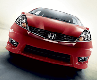 2012 Honda Fit red front end