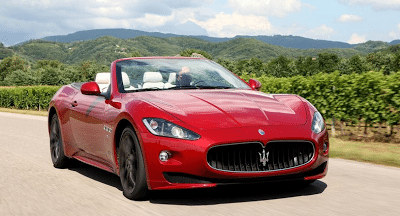 2012 Maserati GranCabrio Sport Red roof down