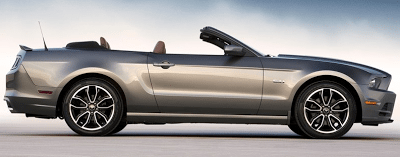 2013 Ford Mustang GT Convertible Grey profile