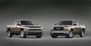 General Motors Sierra and Silverado together