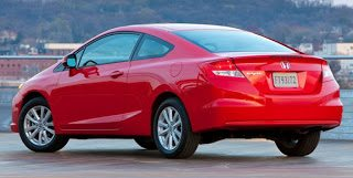 2012 Honda Civic Coupe Rear Angle