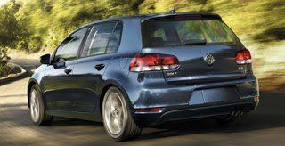 2012 Volkswagen Golf Rear