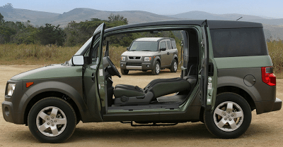 2003 Honda Element EX Doors Open