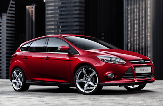 2011 Ford Focus hatchback red