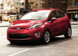2011 Ford Fiesta hatchback red