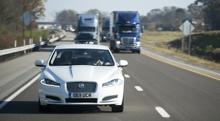 2012 Jaguar XF White motorway lorries