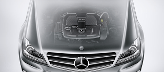 2012 Mercedes-Benz C-Class Hood and grille