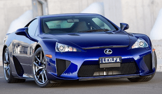 2011 Lexus LFA Blue front end