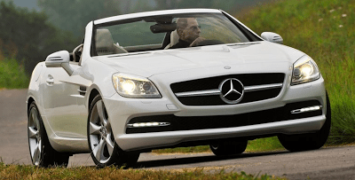 2012 Mercedes-Benz SLK350 white front view