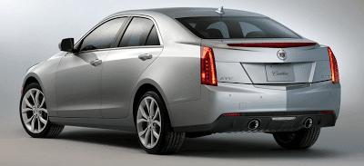 2013 Cadillac ATS Rear Silver