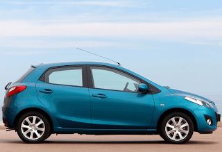 2011 Mazda 2 Blue side view