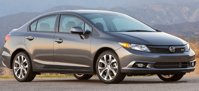 2012 Honda Civic Si sedan grey