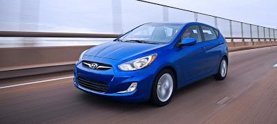 2012 Hyundai Accent hatchback blue