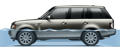 2012 Land Rover Range Rover fording depth