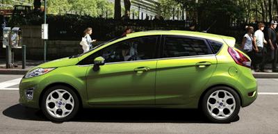 2012 Ford Fiesta hatchback green