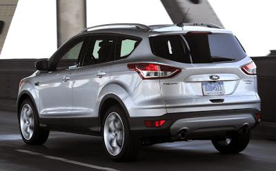2013 Ford Escape silver rear
