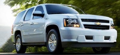 2012 Chevrolet Tahoe Hybrid White