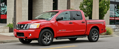 2012 Nissan Titan red